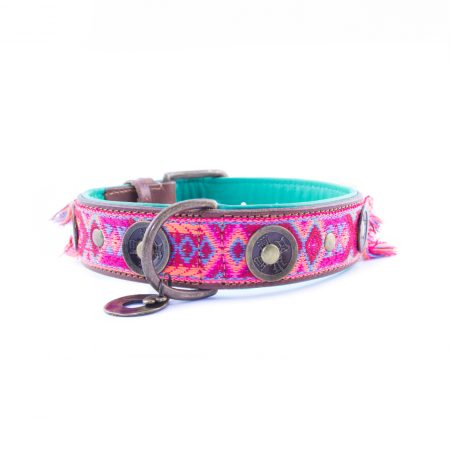 DWAM Boho Rosa halsband 4 cm